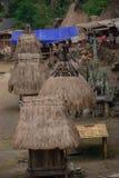 Traditioneel dorp Bena op Flores-Eiland Stock Foto