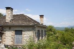 Traditioneel dorp in Griekenland Stock Afbeelding