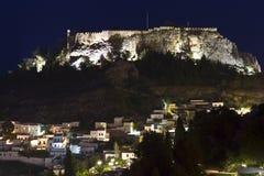 Traditioneel dorp in Griekenland Stock Fotografie