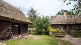 Traditioneel Dorp in Polen Stock Afbeeldingen