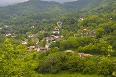 Traditioneel dorp van ?Skotino? in Griekenland Royalty-vrije Stock Afbeeldingen