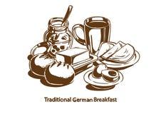 Traditioneel Duits ontbijt stock afbeeldingen