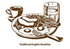 Traditioneel Engels ontbijt royalty-vrije stock afbeeldingen