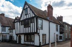 Traditioneel Engels plattelandshuisje in Suffolk, het UK Royalty-vrije Stock Afbeelding