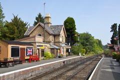 Traditioneel Engels station stock fotografie