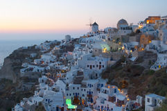 Traditioneel Grieks dorp, Oia, Santorini Stock Foto