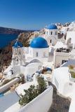 Traditioneel Grieks dorp van Oia, Santorini-eiland, Griekenland stock fotografie