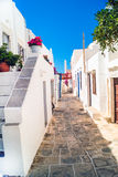 Traditioneel Grieks huis op Mykonos-eiland Royalty-vrije Stock Foto's
