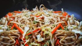 Traditioneel Heerlijk Vegetarisch Stootkussen Thai Royalty-vrije Stock Foto