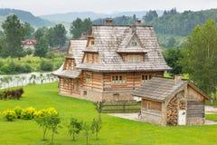 Traditioneel houten dorp in Tatra-bergen Stock Afbeelding