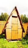 Traditioneel houten toilet Royalty-vrije Stock Afbeelding