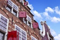 Traditioneel huis in Amsterdam royalty-vrije stock foto's