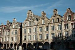 Traditioneel huis in Arras, Frankrijk Stock Afbeelding