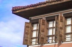 Traditioneel huis, Bulgarije Stock Foto's