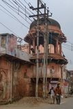 Traditioneel huis in de oude stad van Agra, Uttar Pradesh-Staat van India stock fotografie