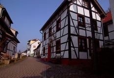 Traditioneel huis in Duitsland Stock Afbeeldingen