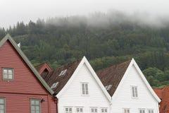 Traditioneel huis Noorwegen Bergen Royalty-vrije Stock Fotografie