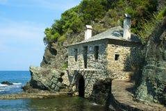 Traditioneel huis op een strand Royalty-vrije Stock Afbeelding