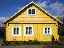Traditioneel Huis, Trakai Royalty-vrije Stock Fotografie