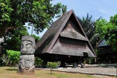 Traditioneel huis van Celebes, Sulawesi, Indonesië royalty-vrije stock foto's