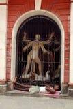 Traditioneel huis van Oude Kolkata. Stock Afbeelding