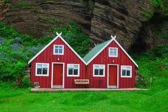Traditioneel Ijslands Plattelandshuisjehuis stock afbeelding
