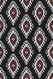 Traditioneel ikatpatroon eamless geometrisch die patroon, op de stijl van de ikkatstof wordt gebaseerd stock fotografie