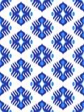 Traditioneel ikatpatroon eamless geometrisch die patroon, op de stijl van de ikkatstof wordt gebaseerd stock foto's