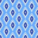 Traditioneel ikatpatroon Naadloos geometrisch die patroon, op de stijl van de ikkatstof wordt gebaseerd royalty-vrije stock afbeeldingen