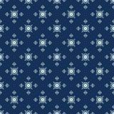 Traditioneel Indigo Blauw Japans Naadloos Vectorpatroon Het watteren Stoffenstijl stock illustratie