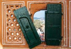 Traditioneel Indisch venster Stock Fotografie