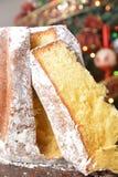 Traditioneel Italiaans glas van spumante op lijstdrank het Italiaans voor Kerstmisfestiviteit en de nieuwe gelukkige jaar decemmb stock afbeelding