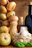 Traditioneel Italiaans kruiden stock afbeeldingen