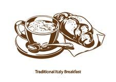 Traditioneel Italiaans Ontbijt stock fotografie