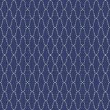 Traditioneel Japans Borduurwerkornament Golvende Sashiko Vector naadloos patroon Stock Foto's