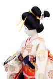 Traditioneel Japans Doll van de Geisha Royalty-vrije Stock Afbeeldingen