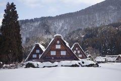 Traditioneel Japans landbouwbedrijfhuis stock afbeelding