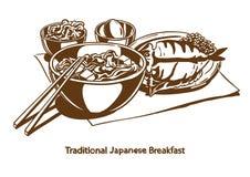 Traditioneel Japans ontbijt stock afbeelding