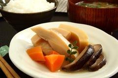 Traditioneel Japans voedsel Nimono Royalty-vrije Stock Foto