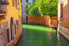 Traditioneel kanaal in Venetië Stock Fotografie