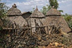 Traditioneel Konso-stamhuis, Ethiopië stock foto