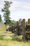 Traditioneel Landelijk Cedar Fence Stock Afbeelding
