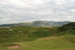 Traditioneel links golf stock foto