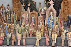 Traditioneel Litouws houten beeldhouwwerk stock fotografie