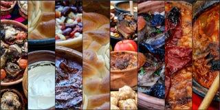 Traditioneel Macedonisch voedsel, collage Stock Fotografie
