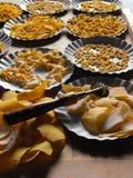 Traditioneel, met de hand gemaakt gebakje Stock Foto