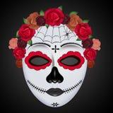 Traditioneel Mexicaans doodsmasker stock illustratie