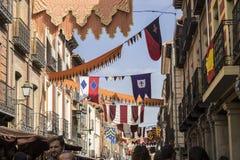 traditioneel middeleeuws festival in de straten van Alcala DE Henare stock foto
