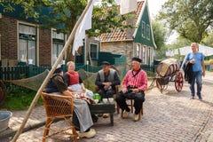 Traditioneel Nederlands dorp royalty-vrije stock foto's