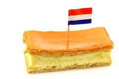 Traditioneel Nederlands geroepen gebakje tompouce Stock Fotografie